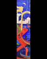 Carlo Massimo Franchi, Red Carpet, olio su plexiglas opalino con illuminazione interna a led, 171x46x4 cm