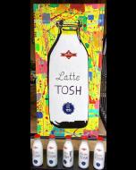 Andrew Tosh, Latte Tosh, acrilico su tela, 120x80 cm, 2017