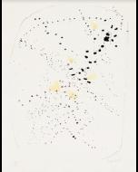Lucio Fontana, L8 Concetto spaziale, Litografia a colori con buchi, 50x38,5 cm, 1955