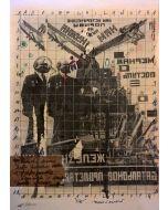 Enrico Pambianchi, Tié, disegno e collage su carta, 25x36 cm, 2016