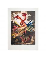 Salvador Dalì, Les Hydres, litografia, 50x70 cm