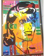 Andrew Tosh, Senza titolo, acrilico su carta, 96x66 cm, 2017