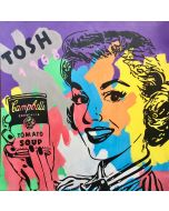 Andrew Tosh, Signorina Campbell's, tecnica mista su tela, 140x140 cm