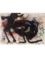 Joan Mirò, Sobreteixims , litografia, 37x55 cm, 1973