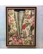 Aria Carelli, Tanto vuoto, inchiostro su carta, 26x20 cm (con cornice)