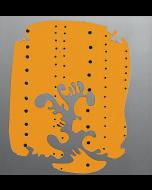 Lucio Fontana, Concetto spaziale, Teatrino, Cartone serigrafico con buchi e alluminio, 49,5x49,5 cm, 1965/66