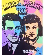 Andrew Tosh, The Magical Mystery Tour, tecnica mista su tela, 60x80 cm