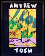Andrew Tosh, This is a cactus, acrilico su tela, 30x40 cm