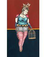 Aria Carelli, Trasloco, acquerello, acrilico, inchiostro su carta, 30x48 cm