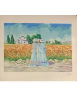 Tre dame, serigrafia, 80x70 cm