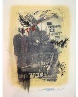 Enrico Pambianchi, Tiè, collage e disegno su carta, 25x36 cm