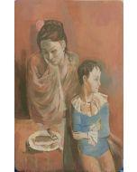 Anonimo, Periodo rosa, Olio su tavola, 23x15 cm