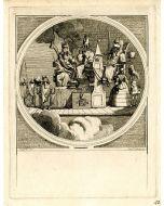 William Hogarth, Inhabitants of the moon, acquaforte e incisione, 39x44 cm