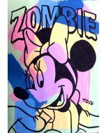 Andrew Tosh, Zombie, acrilico e smalto su carta, 48x33 cm